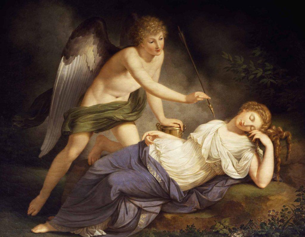 Eros Yunan Mitolojisinde okları ve yayları ile bilinen aşk tanrısı olarak geçe