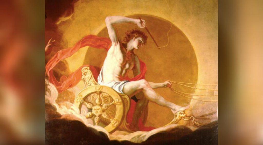 Helios Yunan Mitolojisinde Güneş Tanrısı olarak geçer, Roma döneminde Sol olarak bilinirdi.