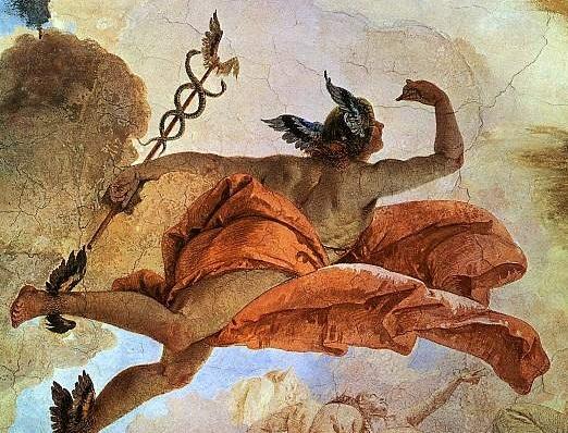 Hermes Yunan Mitolojisinde Tanrıların Habercisi olarak geçer.