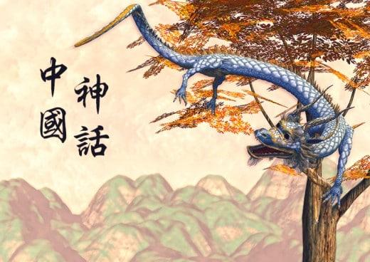 Çin Mitolojisinden bir ejderha figürü