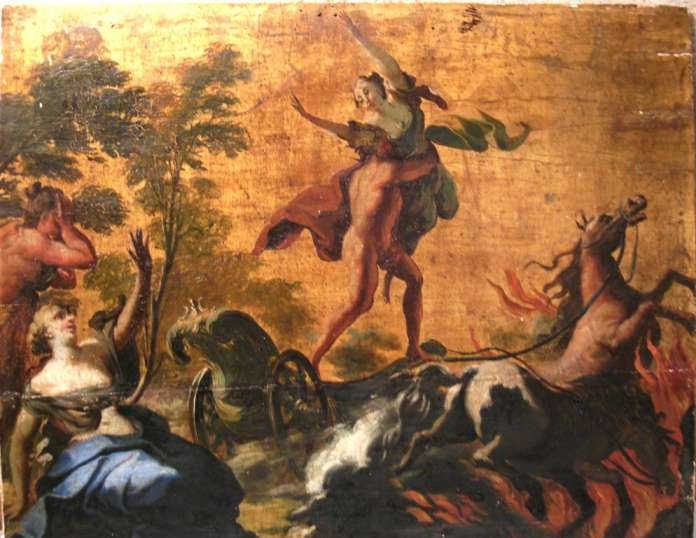 Hades'in Persephone'u kaçırdığı anı betimleyen bir eser.